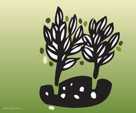 9 draws environment hand trees απεικόνιση αποθεμάτων