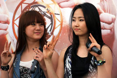 9 dziewczyn Singapore cud Obraz Royalty Free