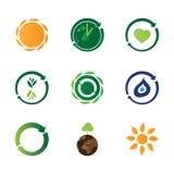 9 eco icons Royalty Free Stock Photos