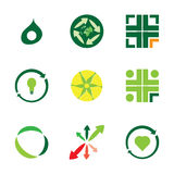 9 eco icons Stock Images