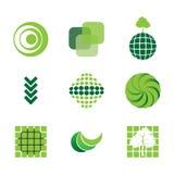 9 eco icons Stock Image