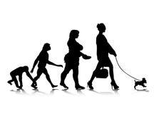 9 ewoluci istota ludzka Fotografia Royalty Free