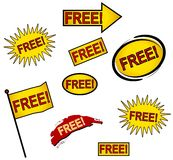9 Free Web Icons or Buttons Royalty Free Stock Photo