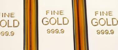 9 guld för 999 fine Royaltyfria Foton
