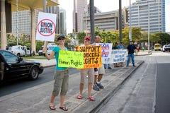 9 hawaii en samlar solidaritet Royaltyfri Foto