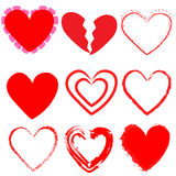 9 heart shapes Royalty Free Stock Images