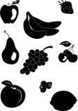 9 ikon owoc Zdjęcia Stock
