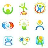9 illustrations symboliques des gens Illustration de Vecteur