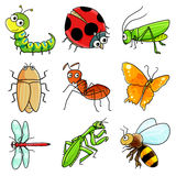 9 Insect icon. A set of 9 common insect icon Stock Image