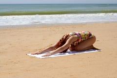 9 jogi plażowych Zdjęcia Stock