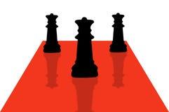 9 kawałków szachowych royalty ilustracja
