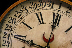 9 klocka o Arkivbild