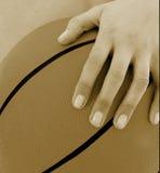 9 koszykówek dziewczyna Obraz Stock