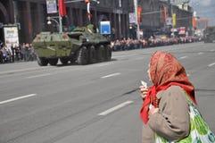 9. Mai 2011-Parade in Moskau, Russland. Stockbilder