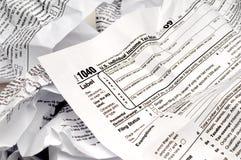 9 miący formularzowy podatek dochodowy w Fotografia Stock