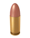 9 mm bullet. 3d computer illustration of 9mm ammuniton Stock Images