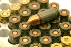 9 mm Bullets. Two kinds 9mm bullets in box Royalty Free Stock Photography