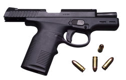 9 mm pistol Stock Photography