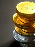 9 mynt Arkivbilder
