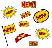 9 neue Web-Ikonen oder Tasten Lizenzfreies Stockfoto