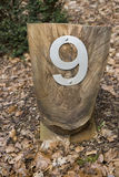 9 numerów Zdjęcie Royalty Free