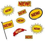 9 nuovi icone o tasti di Web Fotografia Stock Libera da Diritti