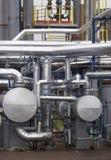 9 nuovi tubi del metallo Immagine Stock