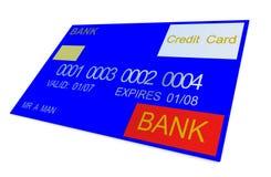 9 par la carte de crédit illustration stock