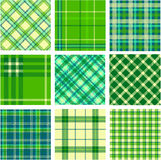 9 plaid patterns set Stock Images