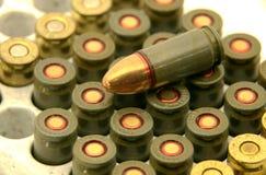 9 pocisków mm Fotografia Royalty Free