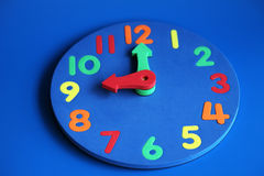 9 pokazuje zegar Obraz Royalty Free