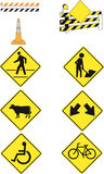 9 road signs Royalty Free Stock Image
