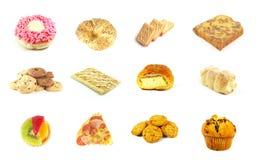 9 séries cuites au four de marchandises Photographie stock libre de droits