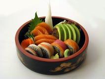 9 sashimi combo σούσια Στοκ Εικόνα