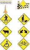 9 sinais de estrada Imagem de Stock Royalty Free