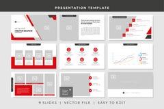 Free 9 Slides Business Powerpoint Presentation Template. Presentation Vector Design Template Stock Photo - 159999180