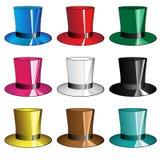 9 sombreros Imagen de archivo libre de regalías