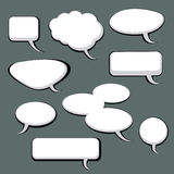 9 Speech And Thought Bubbles. 9 cool speech and thought cartoon bubbles Stock Photo