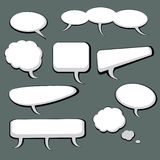 9 Speech And Thought Bubbles. 9 cool speech and thought cartoon bubbles Stock Photography