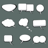 9 Speech And Thought Bubbles. 9 cool speech and thought cartoon bubbles Royalty Free Stock Photo