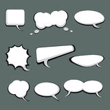 9 Speech And Thought Bubbles. 9 cool speech and thought cartoon bubbles Royalty Free Stock Photography