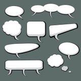 9 Sprache-und Gedanken-Luftblasen Stockfotografie