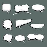 9 Sprache-und Gedanken-Luftblasen Lizenzfreie Stockfotografie