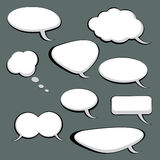 9 Sprache-und Gedanken-Luftblasen Lizenzfreies Stockbild