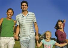 9 szczęśliwe rodzinne Zdjęcia Royalty Free