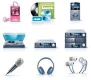 9 urządzeń gospodarstwa domowego ikon część wektor Zdjęcia Stock