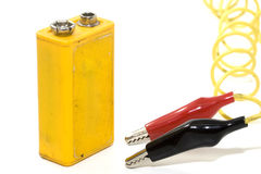 9 volt battery Royalty Free Stock Images