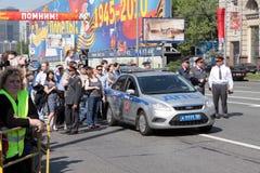 9 von MAI 2010. Siegparade Lizenzfreies Stockfoto