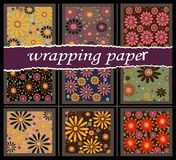 9 wrapping paper Royalty Free Stock Photos