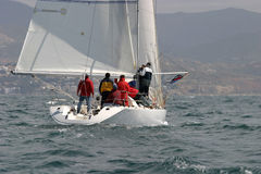 9 wypływa jachting Zdjęcie Royalty Free
